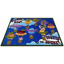 Faith Based Fruits of the Spirit Kids Rug