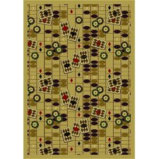 <strong>Joy Carpets</strong> Gaming and Entertainment Feeling Lucky Beige Novelty Rug