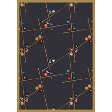 Gaming & Entertainment Snookered Federal Blue Rug