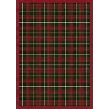 Whimsy Bit O' Scotch Tartan Green Rug