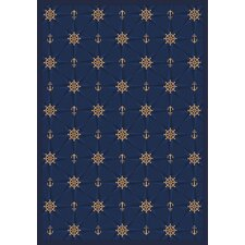 <strong>Joy Carpets</strong> Whimsy Mariner's Tale Anchor Navy Rug