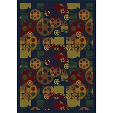 <strong>Joy Carpets</strong> Gaming and Entertainment Blockbuster Multi Novelty Rug