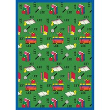 Just for Kids Bookworm Spanish Kids Rug