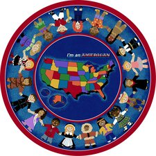 Educational I'm an American Kids Rug
