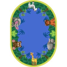 <strong>Joy Carpets</strong> Just for Kids Jungle Friends Rug