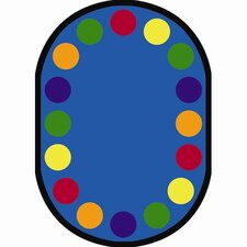 Educational Lots of Dots Area Rug