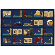 Educational Sit and Read Area Rug
