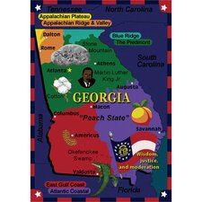 Educational State the Facts Georgia Kids Rug