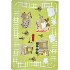 <strong>Joy Carpets</strong> Just For Kids Big Machines Kids Rug