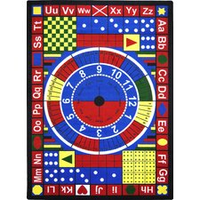 <strong>Joy Carpets</strong> Essentials Teach-A-Tot Kids Rug with Stainmaster