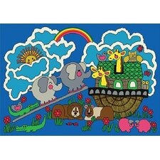 <strong>Joy Carpets</strong> Faith Based Noah's Ark Kids Rug