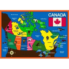 Educational Oh Canada Kids Rug