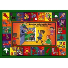 Educational Read and Rhyme Area Rug