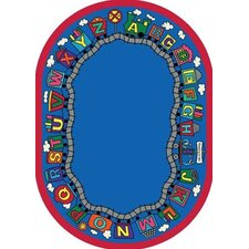 Educational Reading Train Area Rug
