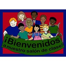 Educational Spanish Welcome to Our Classroom Kids Rug