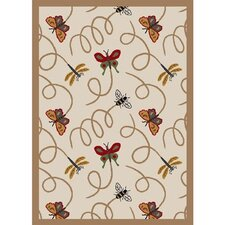 Nature Beige Wing Dings Novelty Rug