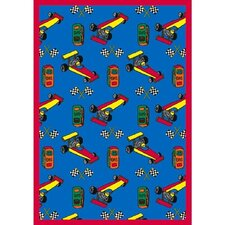 <strong>Joy Carpets</strong> Just for Kids Pit Stop Kids Rug