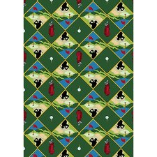 Gaming and Entertainment Games People Play Green Spike N' Tee Golf Area Rug