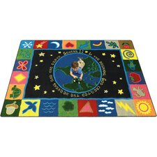 Faith Based In the Beginning Kids Rug