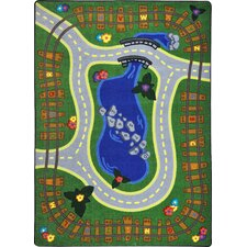 Kid Essentials Alphabet Express Kids Rug