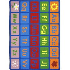 Kid Essentials Any Day Alphabet Kids Rug
