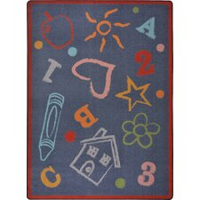 Playful Patterns Kid's Art Kids Rug