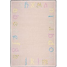 Kid Essentials Multi Polka Dot ABC's Kids Rug