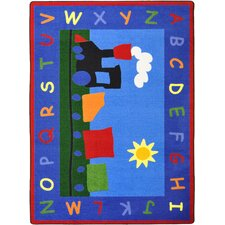 Kid Essentials Tiny Train Kids Rug