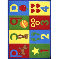 Kid Essentials Toddler Basics Primary Kids Rug