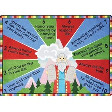 Faith Based Ten Commandments Kids Rug