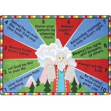 Faith Based Ten Commandments Kids Rug