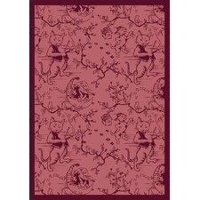 Nature Fancy Fiddlers Red Kids Rug
