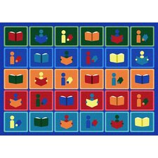 Kid Essentials Library Blocks Kids Rug
