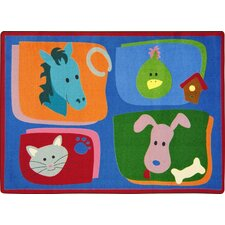 <strong>Joy Carpets</strong> Kid Essentials My Favorite Animals Kids Rug