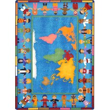 Educational Hands Around the World Area Rug