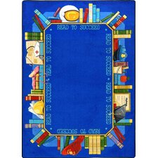Educational Read to Succeed Kids Rug