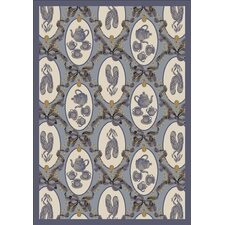 Just for Kids Blue Ribbons and Bows Kids Rug