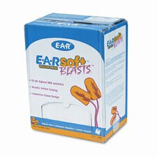 3M E-A-Rsoft Blasts Earplugs, Corded, Foam, 200 Pairs/Box