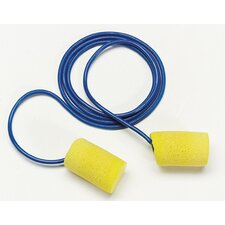 <strong>Aearo Technologies</strong> Use E-A-R® Classic® Small Cylinder Shaped PVC And Foam Corded Earplugs (1 Pair Per Poly Bag, 200 Pair Per Box)