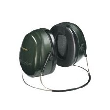H7 Deluxe Performance Series Behind-The-Head Earmuff Hearing Protector Green With Fluid Foam Filled Cushion NRR 26 dB