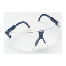 Safety Glasses Blue Frame With Large Clear Lens