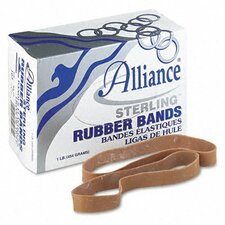 Sterling Ergonomically Correct Rubber Bands, #107, 7 X 5/8, 50 Bands/1Lb Box
