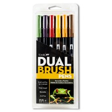 Dual Brush Secondary Pen (Set of 6)