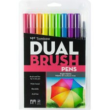 Dual Brush Pen, 10/Pack