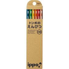Ippo Wood 2B Pencil (Pack of 12) (Set of 6)