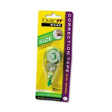 "Mono Correction Tape, Mini Model, Non-Refillable, 1/6"" x 236"""