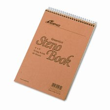 Spiral Steno Book, Gregg Rule, 6 X 9, 60 Sheets