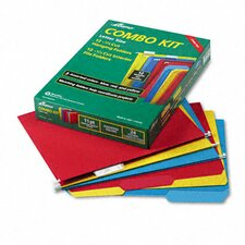 <strong>AMPAD Corporation</strong> Pendaflex Essentials Combo Hanging File Folders, 1/3 Tab, Letter, 12 Sets/Box