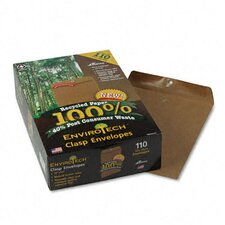 Earthwise Envirotech 60Lb. Gummed Flap Envelope, Side Seam, 10X13, 110/Box