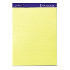 Evidence Perf Top, Legal Rule, Letter, 50-Sheet Pads/Pack, 12/Pack